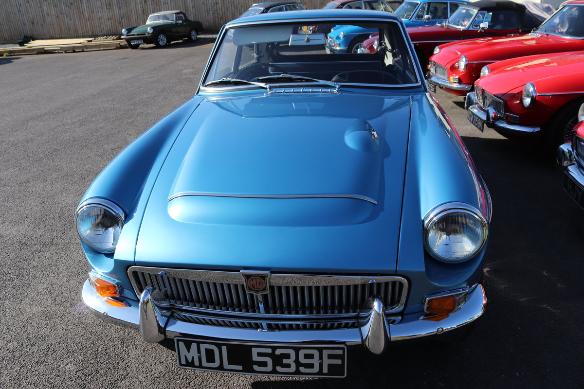 1968 MGC GT,Riviera Silver Blue, Bare metal respray 2018 For Sale (picture 2 of 5)