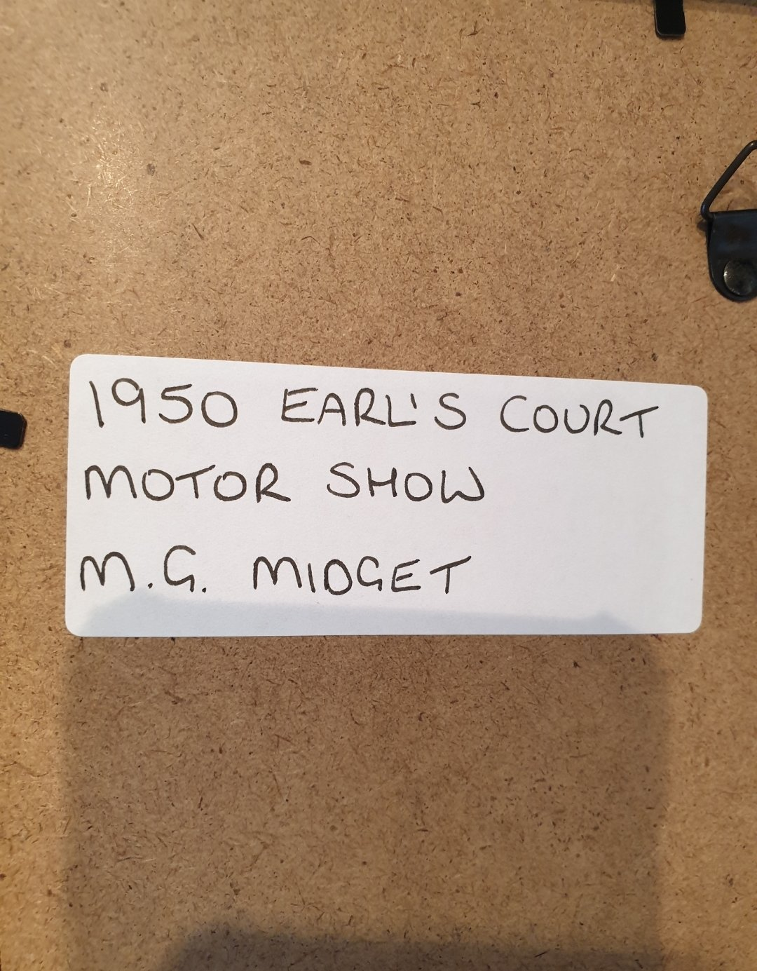 1950 MG Midget Framed Advert Original  For Sale (picture 2 of 2)
