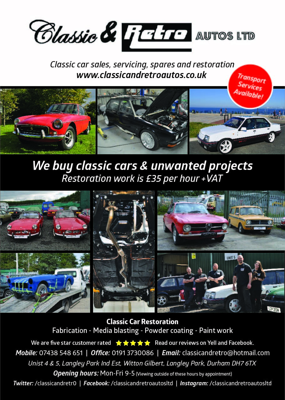 2019 Classic car sales, servicing, storage and restoration For Sale (picture 1 of 2)
