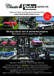 2019 Classic car sales, servicing, storage and restoration For Sale
