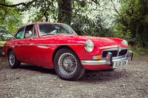 1974 MG MGB GT MGBGT CHROME BUMPER TARTAN RED WIRE WHEELS  For Sale