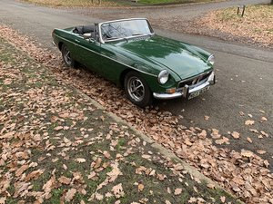 1972 MGB, Chrome bumper, overdrive, mot Oct 2020