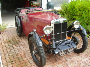 MG Midget M Type 1930 - To be auctioned 31-01-20