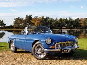 Recently restored 1969 MG B Roadster
