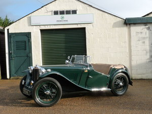 MG TC, dark green with tan interior