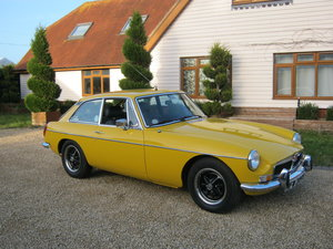 1980 MGB GT IN INCA YELLOW. 1 OWNER AND ONLY 33,000 MILES SOLD