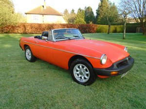 1980 MGB Roadster with Overdrive  For Sale