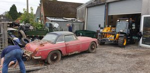 **REMAINS AVAILABLE** 1969 Barn find MG C For Sale by Auction