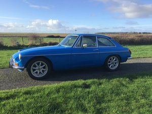 MGB Gt Pageant Blue Historic car