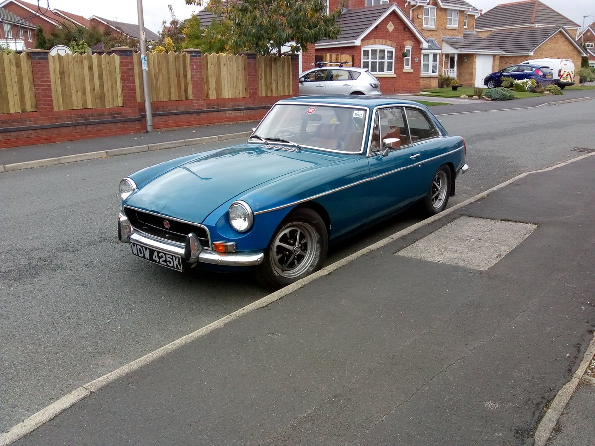 1971 Chrome bumper MGB GT For Sale (picture 1 of 6)