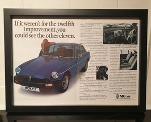 Picture of 1976 MGB GT Framed Advert Original