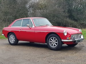 MG B GT, 1972, Red, Overdrive For Sale