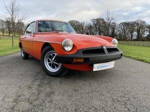 1978 MGB GT finished in Vermillion orange