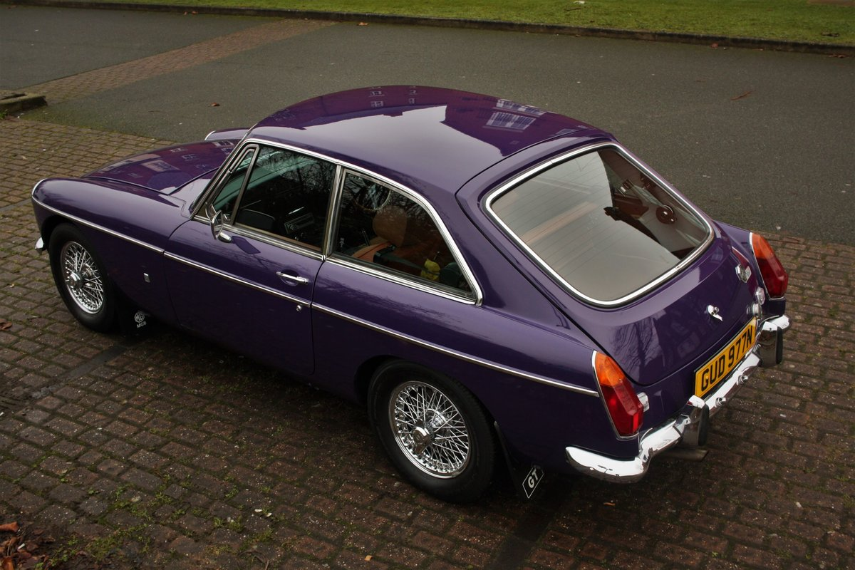 1974 MGB GT - Aconite - Chrome bumper, Wires MGBGT MG BGT SOLD (picture 1 of 6)