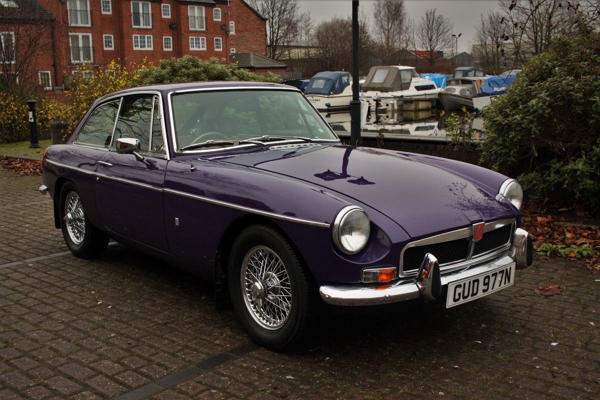 1974 MGB GT - Aconite - Chrome bumper, Wires MGBGT MG BGT SOLD (picture 2 of 6)