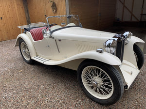 1934 Lovely MG PA  - Ivory - Red leather interior