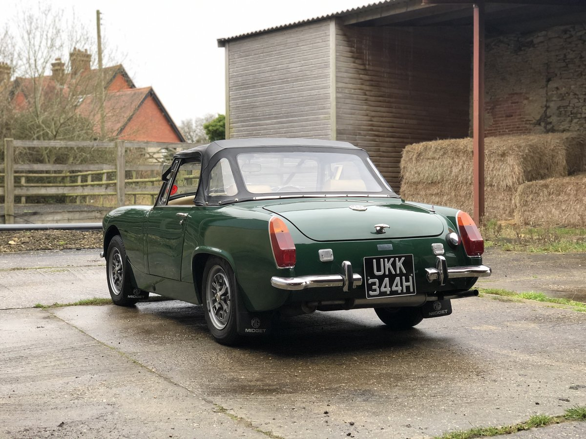 1970/H MG Midget MKIII Stunning car in BRG. For Sale (picture 2 of 6)