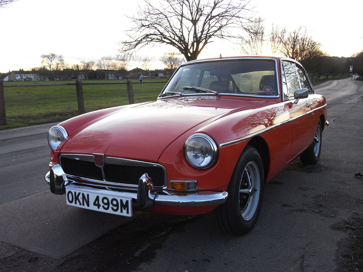 1973 MGB GT Blaze Red Overdrive SOLD (picture 2 of 6)