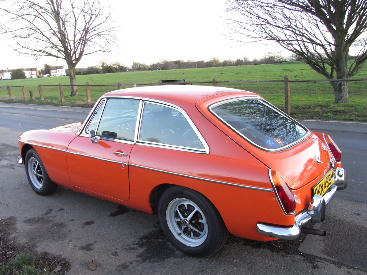 1973 MGB GT Blaze Red Overdrive SOLD (picture 3 of 6)