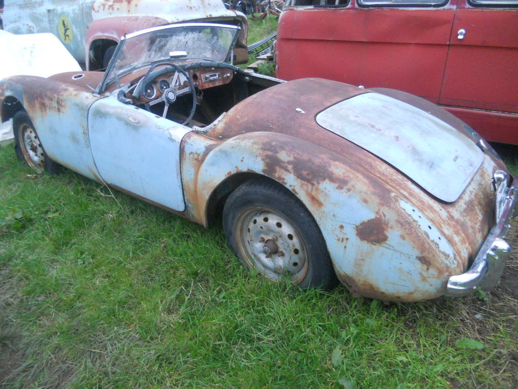 1960 MGA Roadster 1600 Rolling Parts car For Restoration US Impor For Sale (picture 4 of 6)