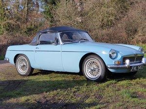 MG B Roadster, 1964, Iris Blue, LHD For Sale