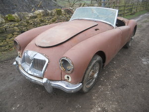 1958 MGA Roadster 1500cc car For Restoration US Import LHD  SOLD