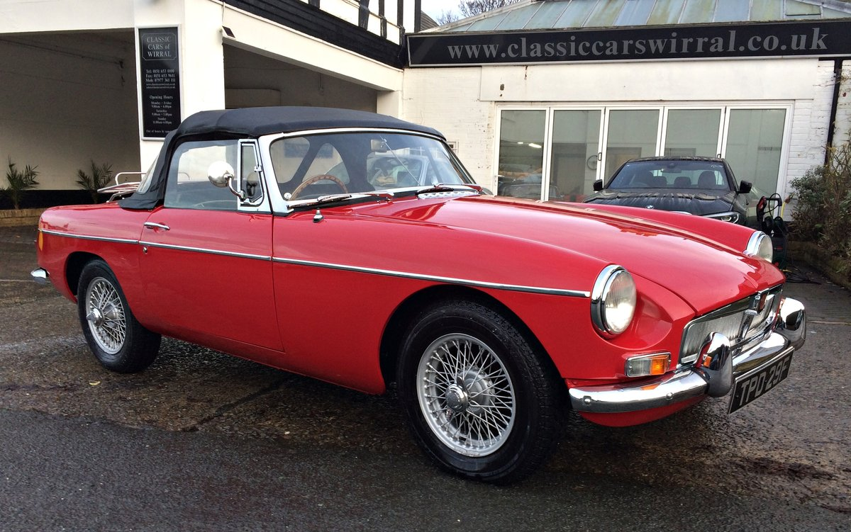 1968 MGB ROADSTER. O/D WIRE WHEELS For Sale (picture 1 of 6)
