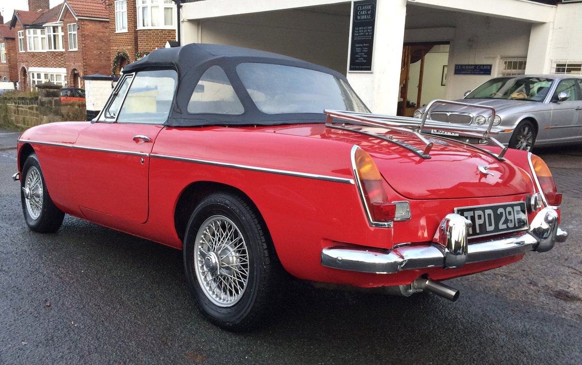1968 MGB ROADSTER. O/D WIRE WHEELS For Sale (picture 6 of 6)