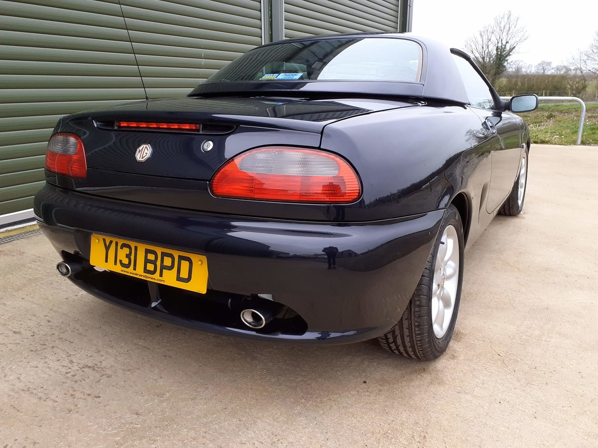 2001 MGF 1.8 ltr Sports Very Low Mileage SOLD (picture 2 of 6)