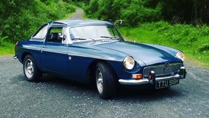 1970 MGB roadster with Bermuda hardtop. For Sale