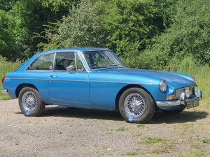 MG B GT, 1970, Riviera Blue, Automatic