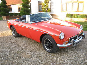 1977 MGB ROADSTER IN BLAZE RED. MOT & TAX EXEMPT. SOLD