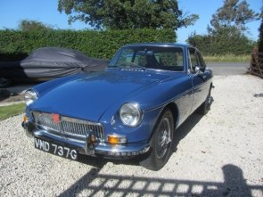 1968 MGB GT. MINERAL BLUE WITH BLACK LEATHER INTERIOR. For Sale