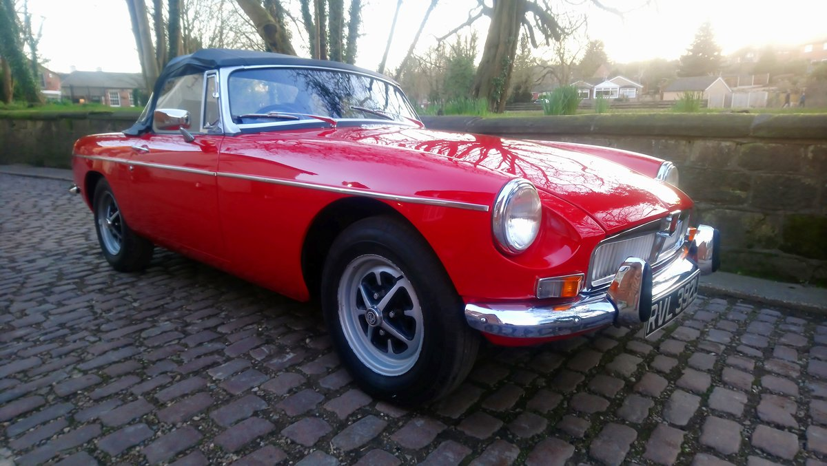 MGB Roadster 1972 Flame Red Outstanding Example SOLD (picture 1 of 6)