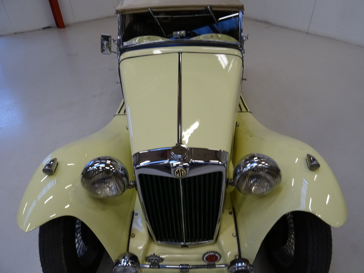 1947 MG TC Sequoia Cream with Green leather interior For Sale (picture 11 of 24)