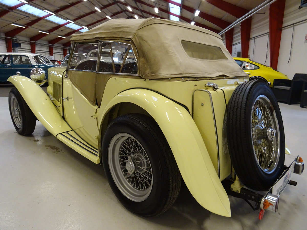 1947 MG TC Sequoia Cream with Green leather interior For Sale (picture 14 of 24)