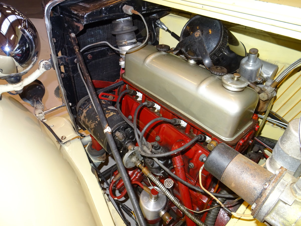 1947 MG TC Sequoia Cream with Green leather interior For Sale (picture 20 of 24)
