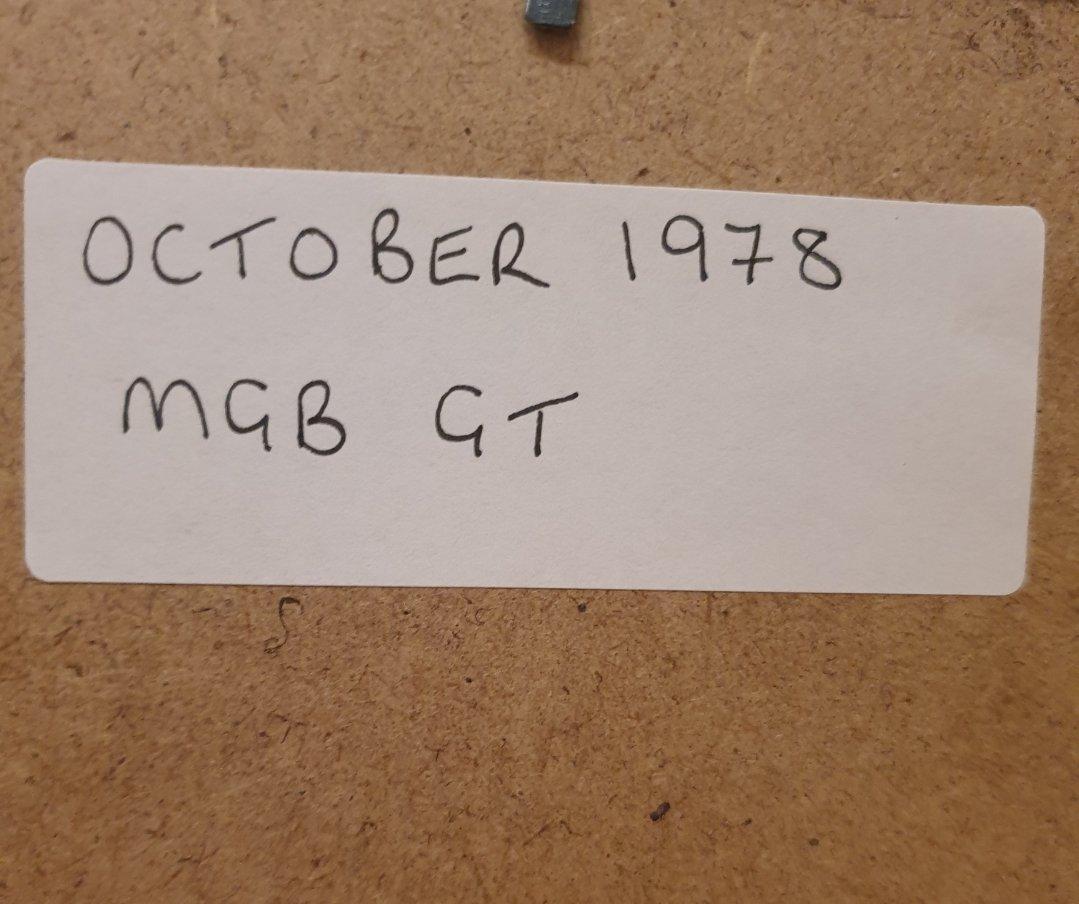 1978 Original MGB GT Framed Advert For Sale (picture 2 of 2)