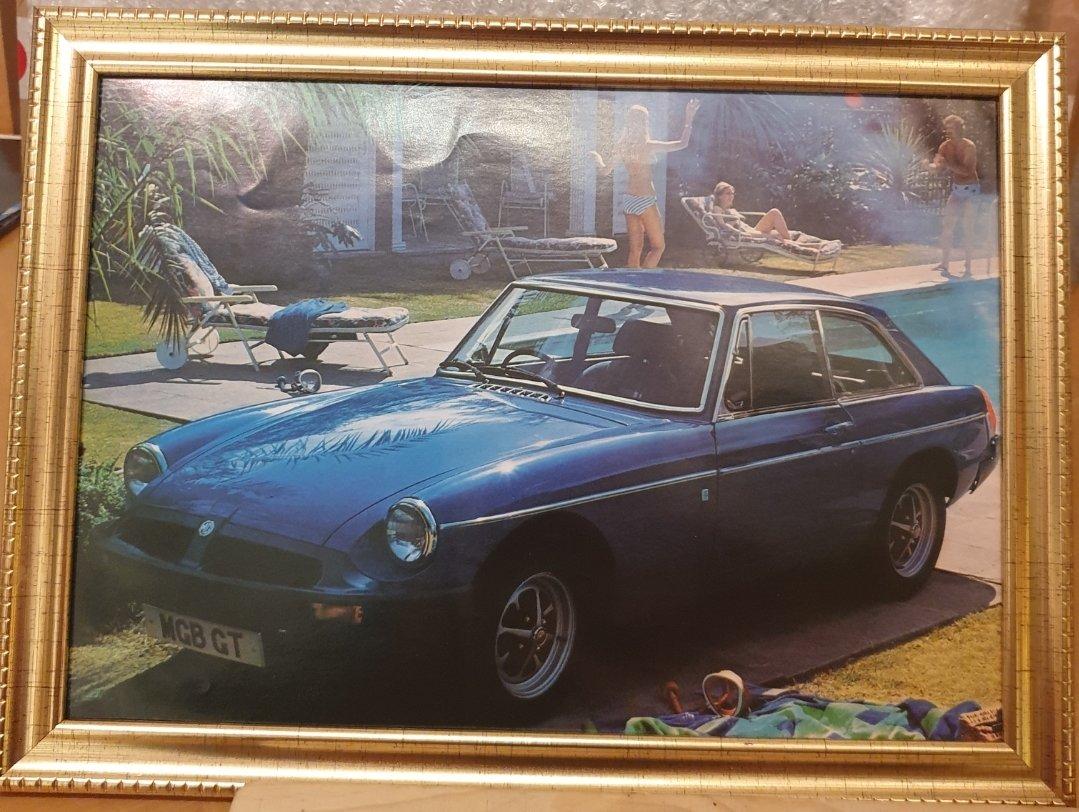 1978 Original MGB GT Framed Advert For Sale (picture 1 of 2)