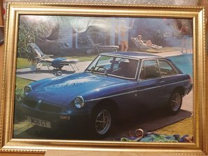 Original MGB GT Framed Advert