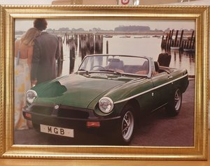 Original MGB Framed Advert