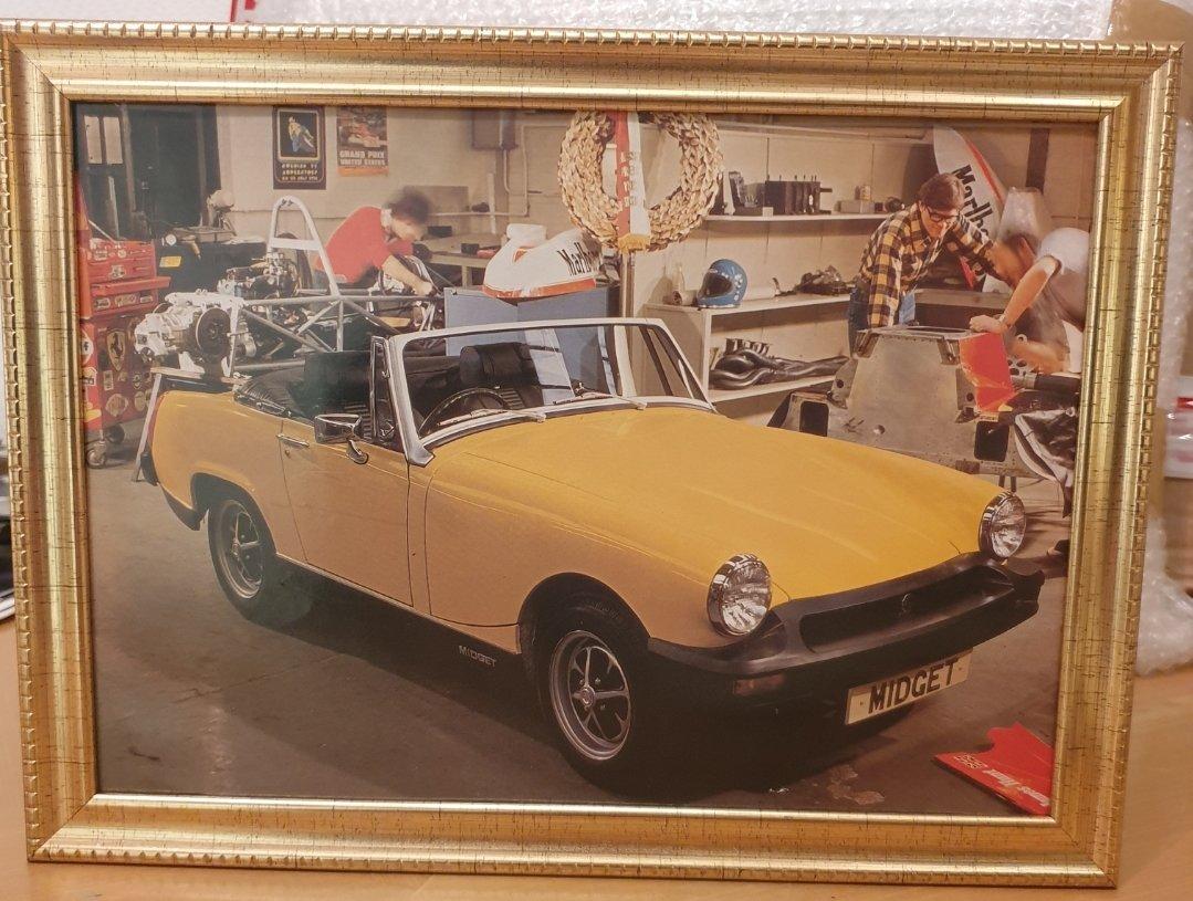 1978 Original MG Midget Framed Advert For Sale (picture 1 of 2)