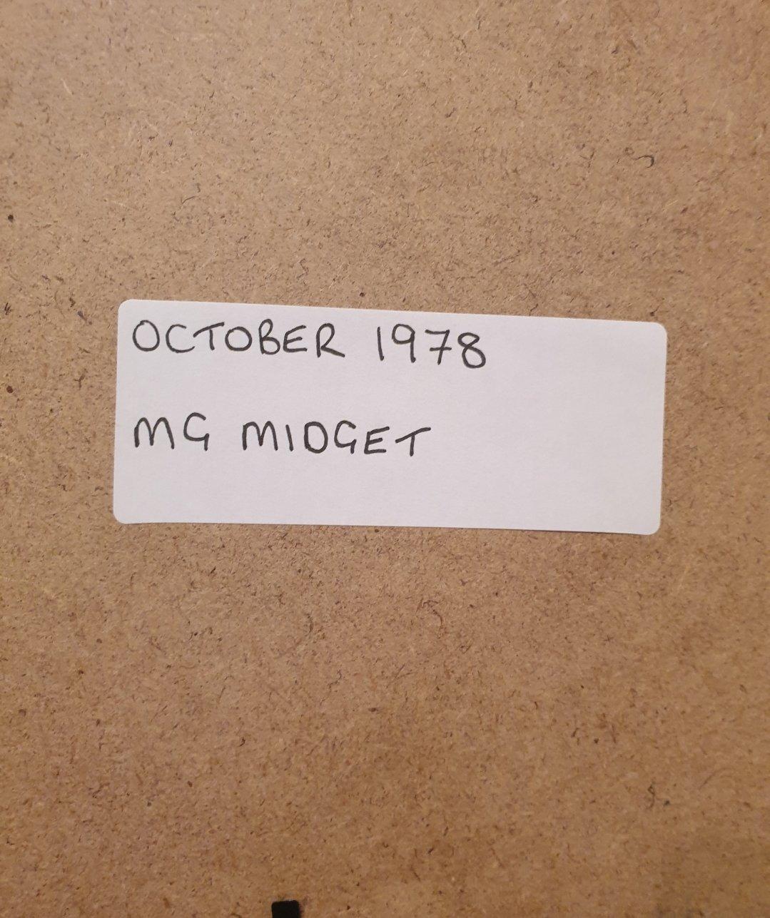 1978 Original MG Midget Framed Advert For Sale (picture 2 of 2)
