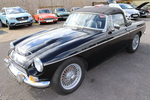 1969 MGC Roadster in black, wires and overdrive For Sale