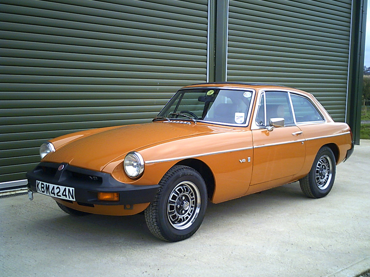 1975 MGB GT V8 ORIGINAL FACTORY CAR, investment quality For Sale (picture 1 of 6)