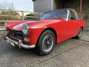 1971/K MG Midget MkIII 1275cc in Red. For Sale
