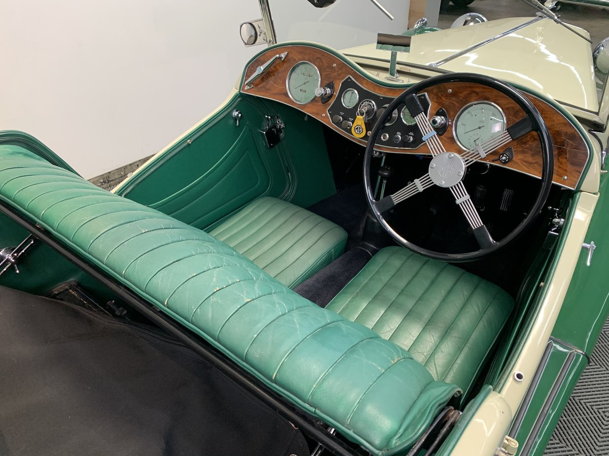 1938 MG ta roadster. Pale yellow with apple green For Sale (picture 3 of 6)