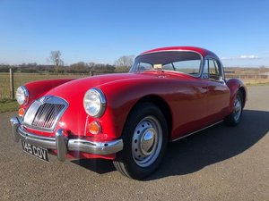1961 Mk 1 MGA 1600 Coupe in chariot red with matching red in