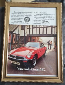 Picture of 1975 MGB GT Framed Advert Original