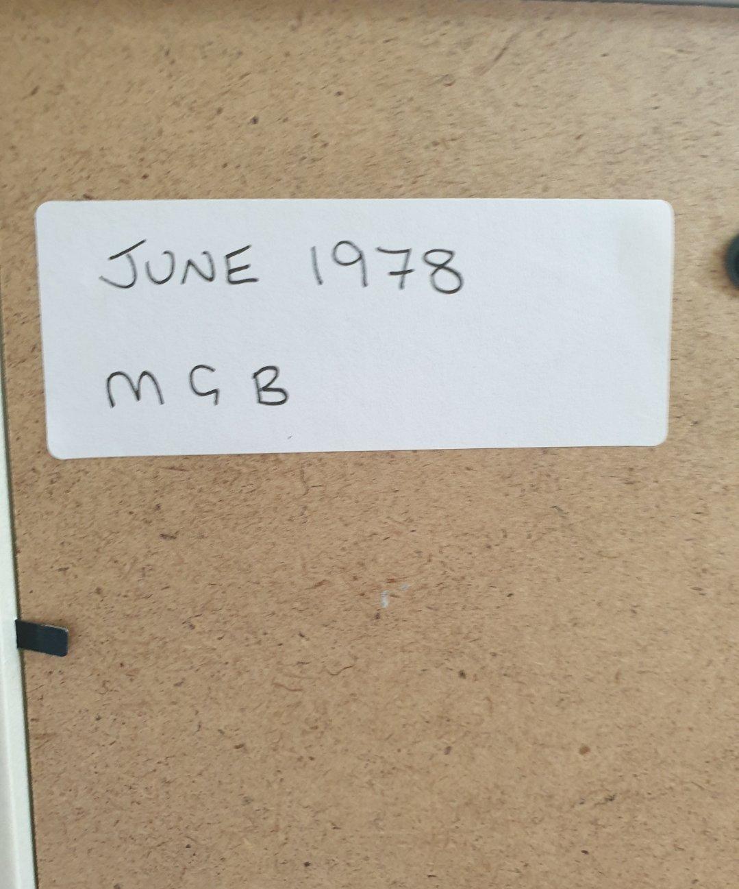 1978 Original MGB Framed Advert For Sale (picture 2 of 2)